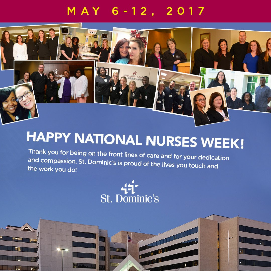 Happy National Nurses Week! Thank you for being on the front lines of care and for your dedication and compassion. #NursesWeek https://t.co/x4UtsG5FSe