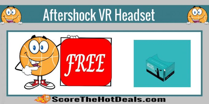 **FREE** Aftershock VR Headset!free virtualreality freebies freebie vr aftershock