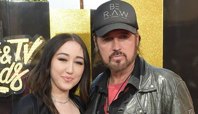 Billy Ray Cyrus was Noah Cyrus' biggest fan as she performed at the MTV Movie & TV Awards: