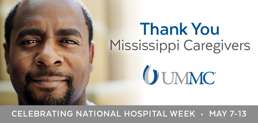 At UMMC, we have a Heart, Soul and Passion for a healthier Mississippi! #NationalHospitalWeek #AHealthierMS https://t.co/W5TuL98AYS