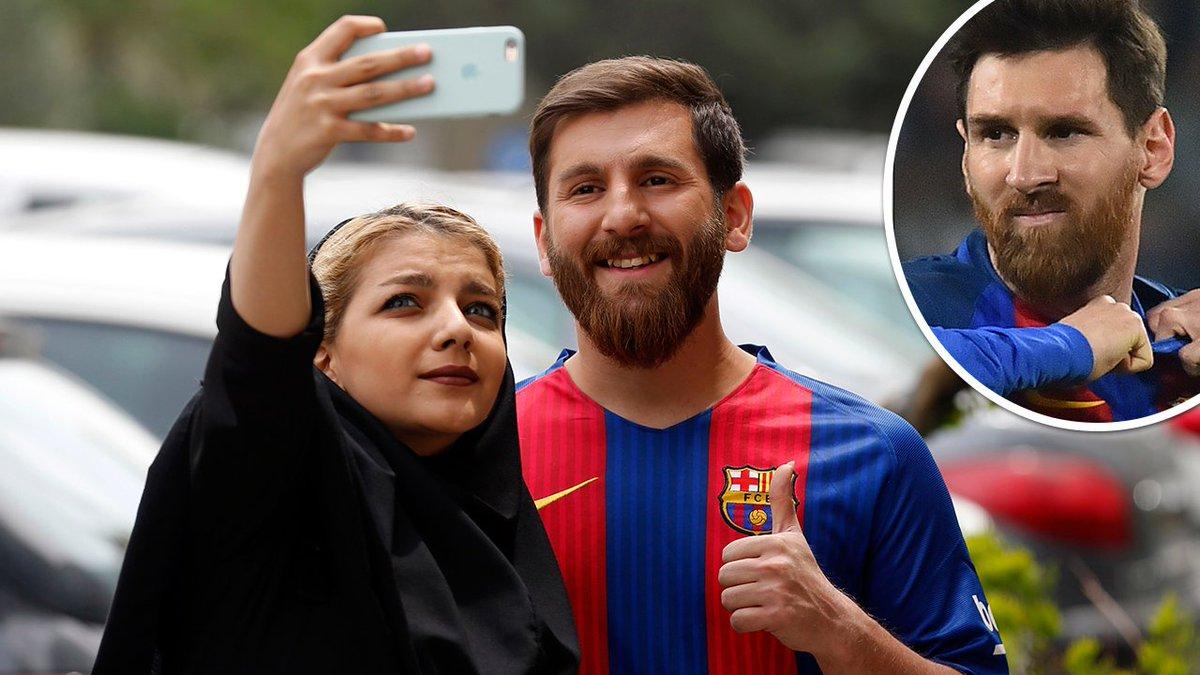 Verrückte Szenen im Iran - Messi-Doppelgänger sorgt für Polizei-Einsatz