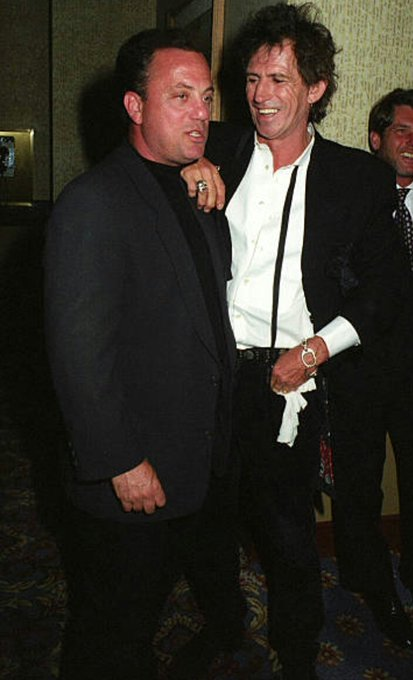 He is one of the favourite musicians. Happy birthday Billy Joel! Billy & Keith at R&R Hall of Fame, 1993.