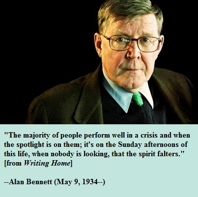 Happy birthday, Alan Bennett!