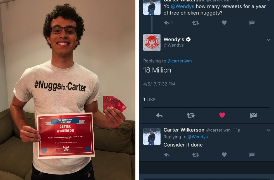 The kid who asked Wendy's for free nuggets is getting them and everyone is freaking out