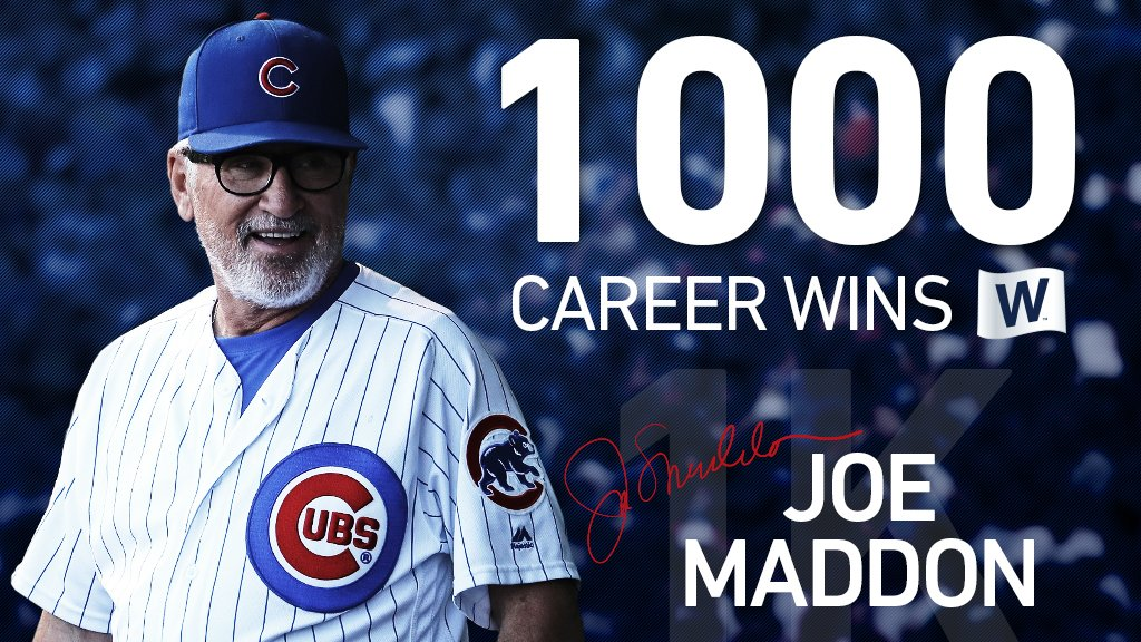 Congratulations to @CubsJoeMadd on career win No. 1,000! https://t.co/rHgS8rGKap