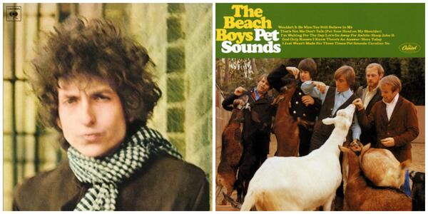Released on this day in 1966, Bob Dylan's Blonde On Blonde and Beach Boys' Pet Sounds. https://t.co/NwN8mqFokN