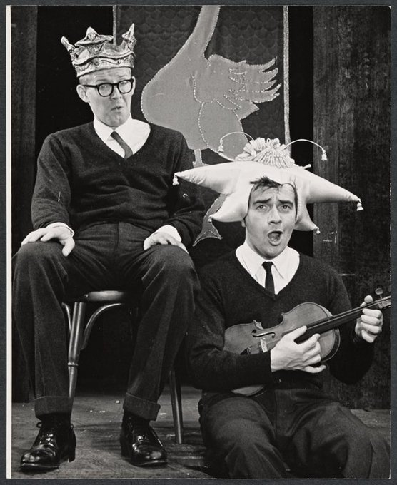 Happy birthday to Alan Bennett, here w/ Dudley Moore in their revue BEYOND THE FRINGE, 1962. Via