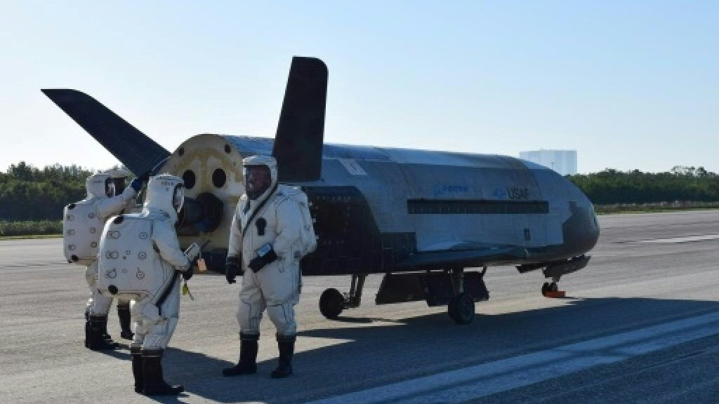 US drone back on Earth after nearly two years in space