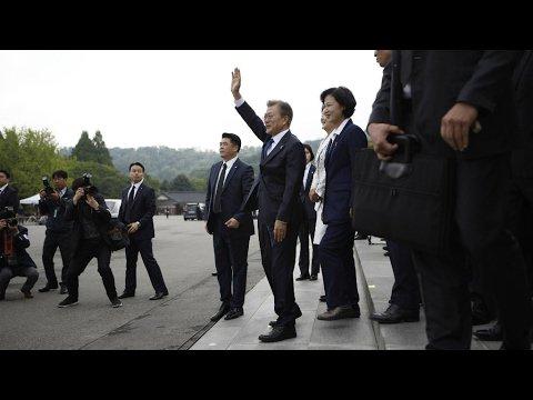 VIDEO -  South Korea: Moon begins term as president after landslide election win confirmed