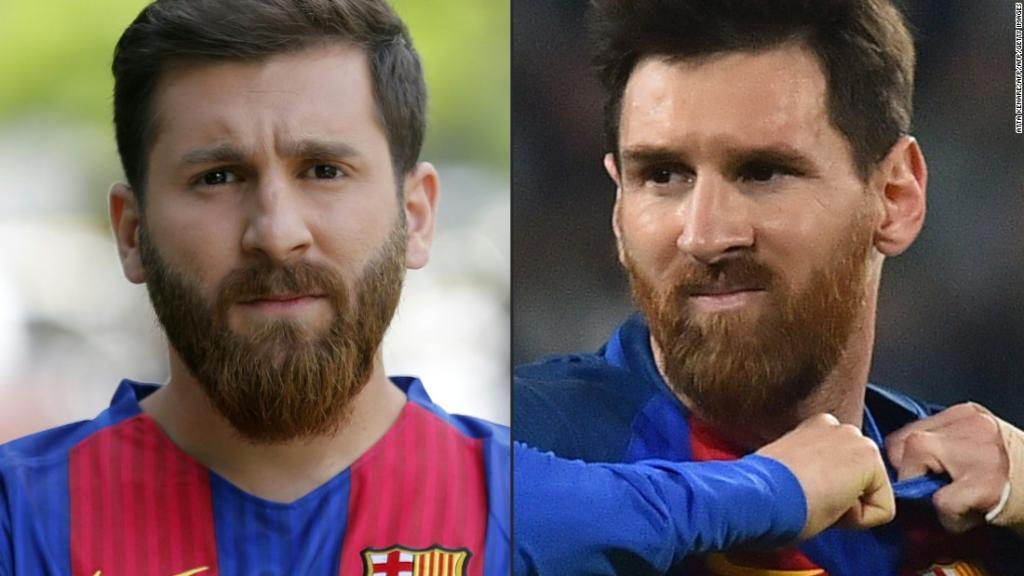 This Iranian student looks just like football superstar Lionel Messi