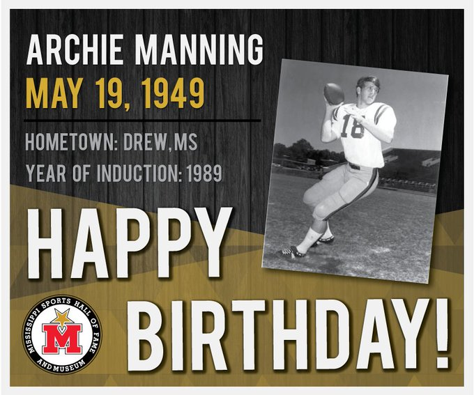Happy Birthday, Archie Manning! Learn more: