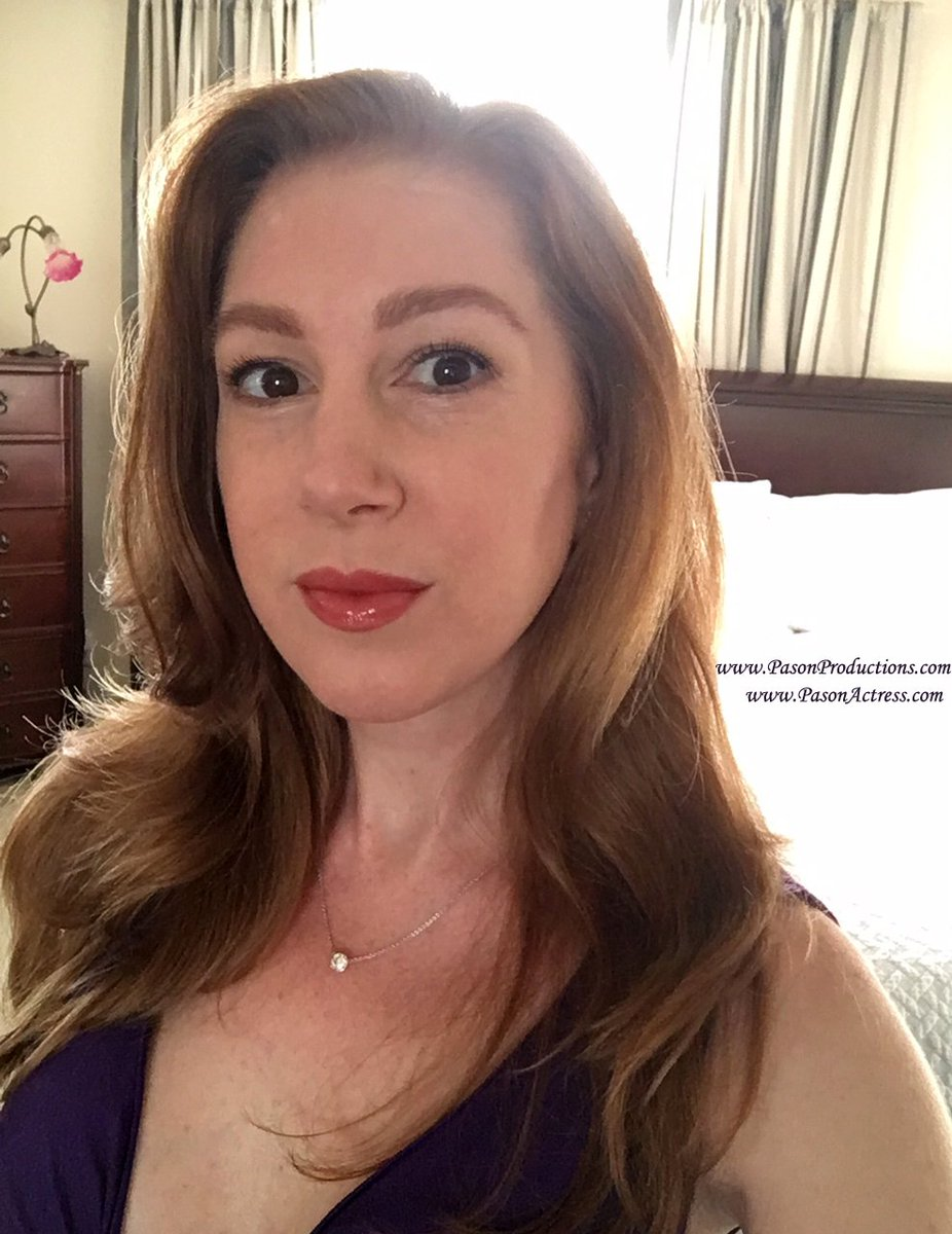#Selfie #Pic #Pason #Actress #Writer #Producer #Redhead Feels good to wear #makeup again! Have a wonderful