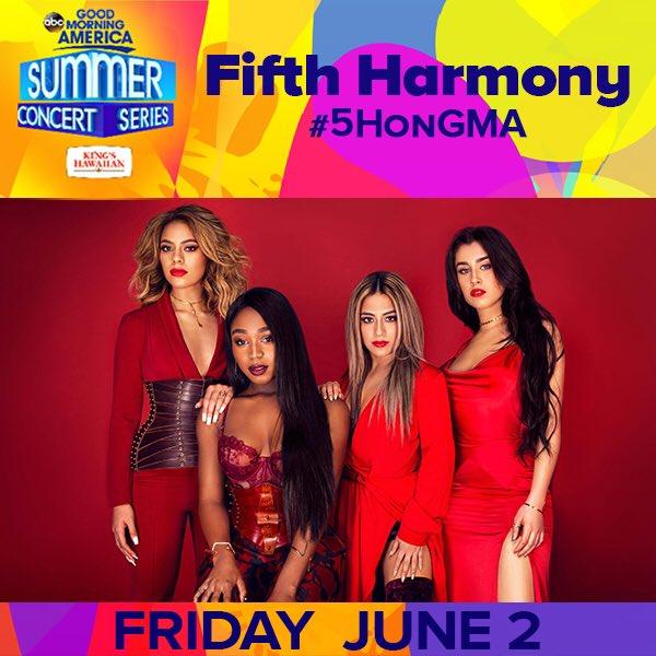 Harmonizers! Make sure you tune in on 6/2 #5HonGMA ������ https://t.co/K5MHsqerEn