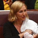 Australian senator breastfeeds baby on floor of Parliament