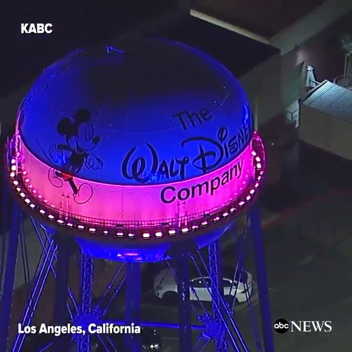 Landmarks around Los Angeles light up in support of the region's bid for the 2024 Olympics.