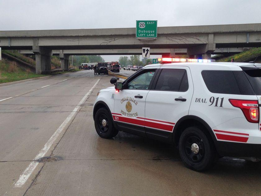 1 hurt in Highway20/58 crash in Cedar Falls