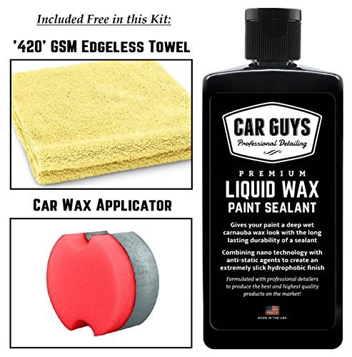 Synthetic Polymer Paint Sealant for an Extremely Deep Carnauba Wax Glass...