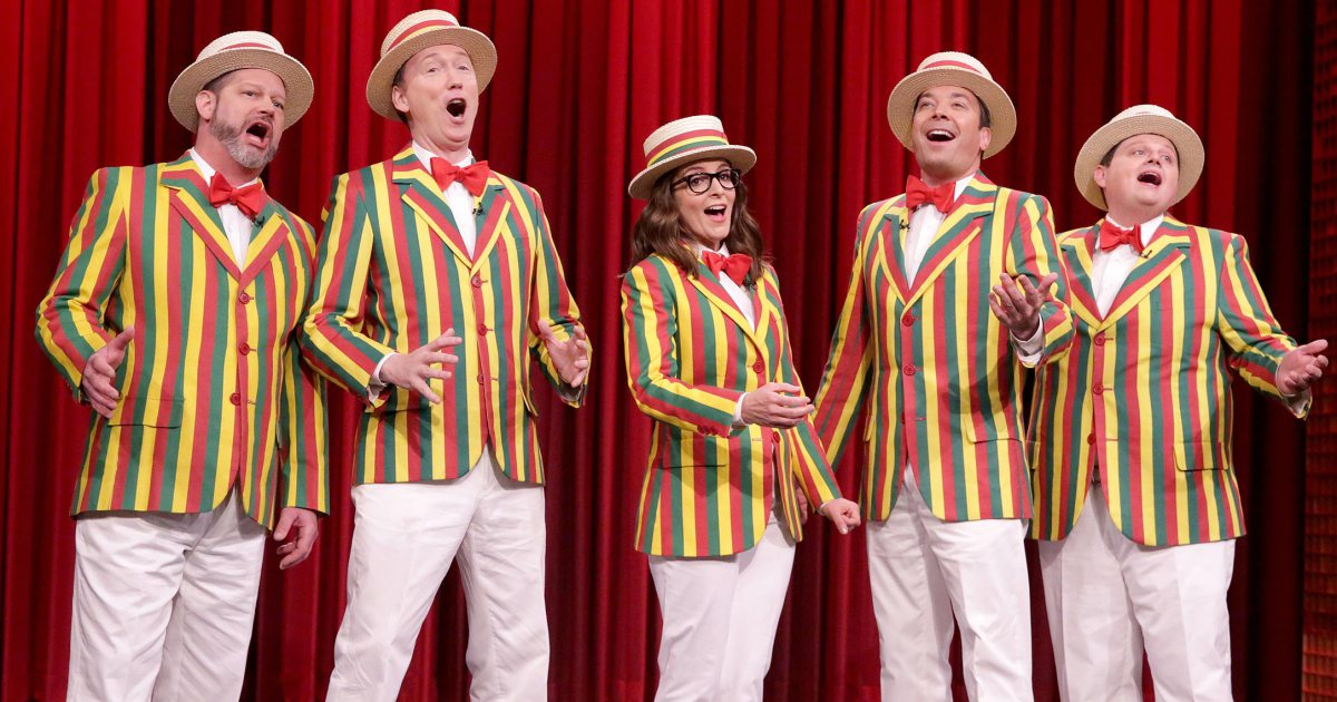 Tina Fey joins Jimmy Fallon's Ragtime Gals and nails a Bruno Mars cover: