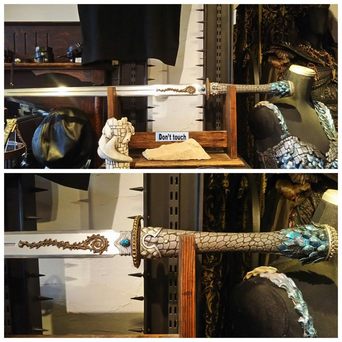 アリスの剣も展示開始しましたー!#JAP工房 #牙狼 #絶狼 #ZERO #アリス  #龍 #剣