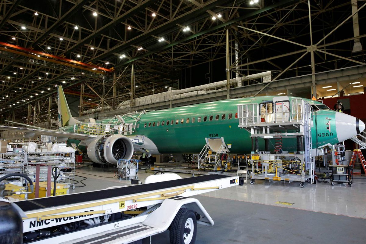 Boeing has halted test flights of the new 737 over an engine issue