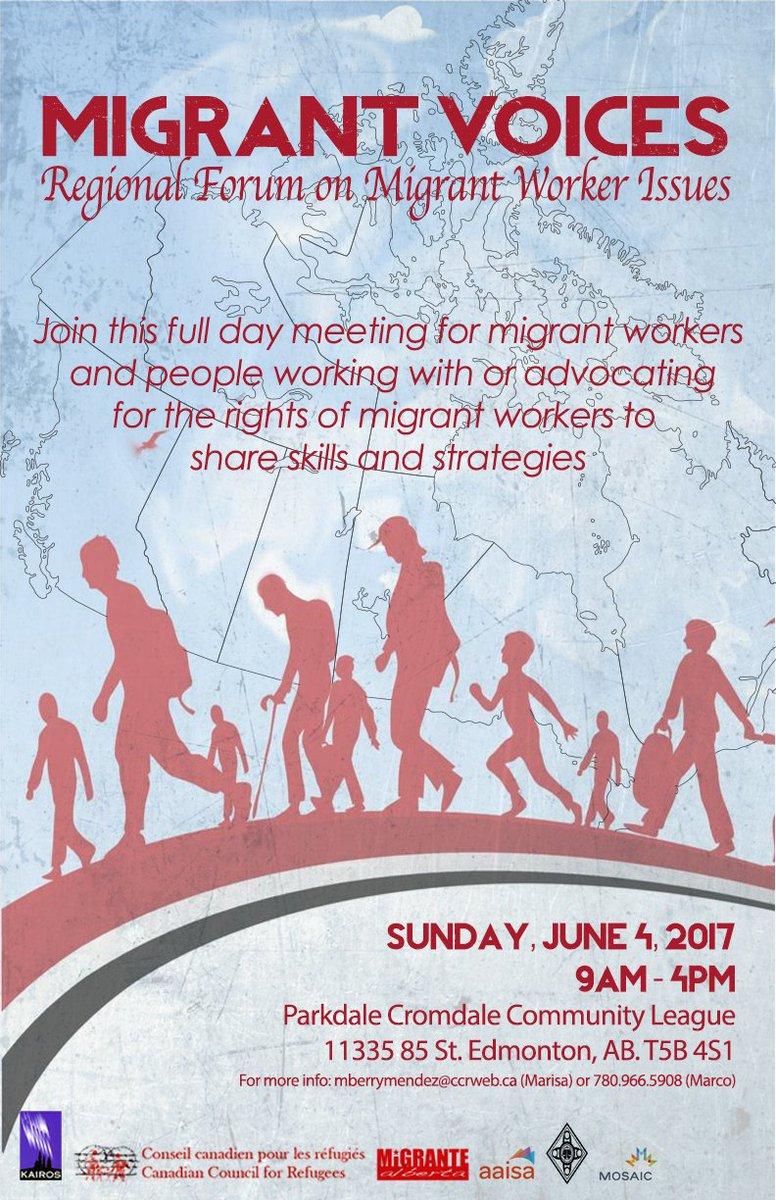 test Twitter Media - Regional Forum #MigrantWorkers' Issues! June 4 Edmonton https://t.co/uQvGcHwFXp w/@ccrweb MigranteAB; RedlegalBC KairosCda Mosaic Mwda aissa https://t.co/PAufcKZ72x