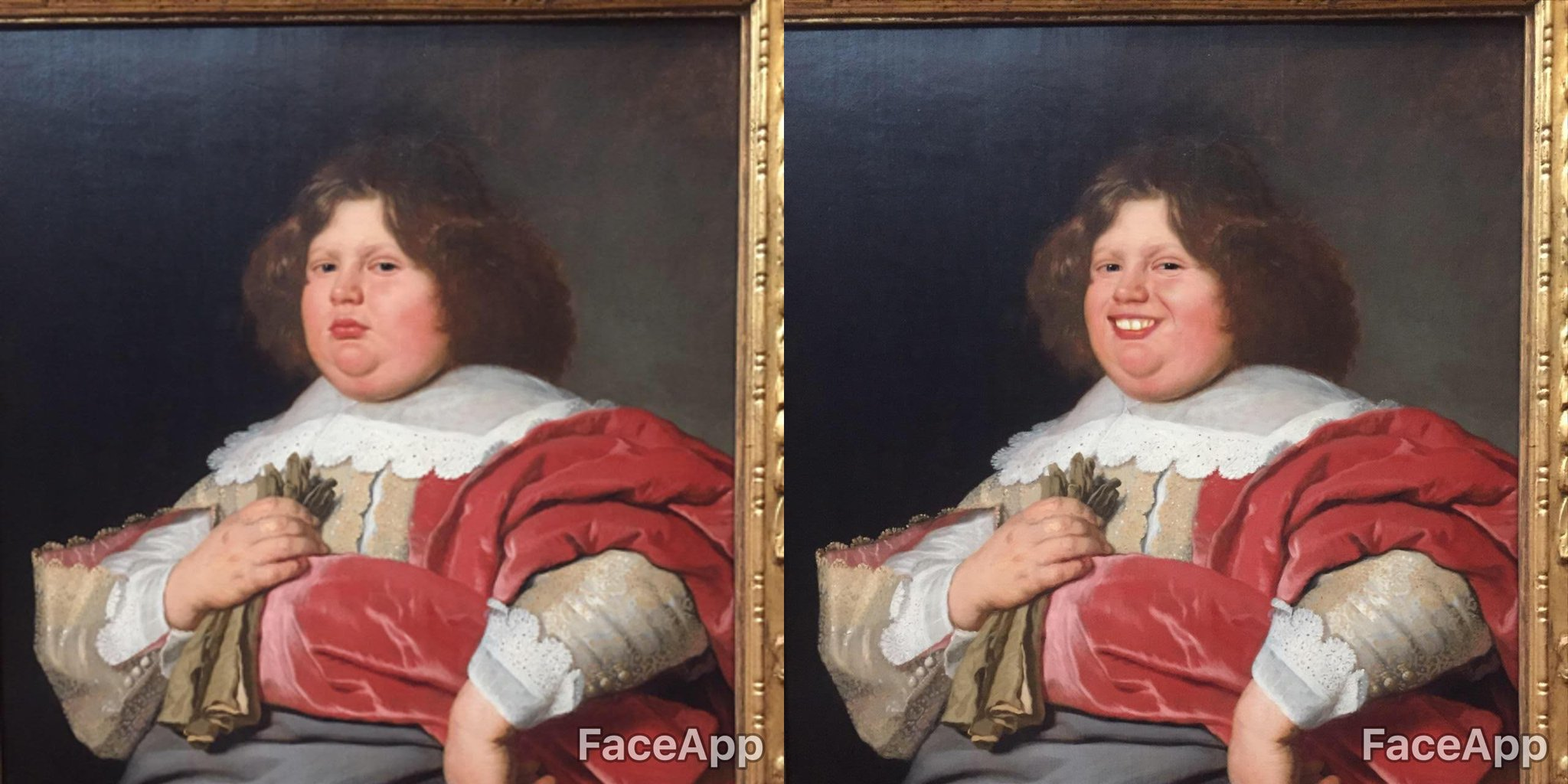 Went to a museum armed with Face App to brighten up a lot of the sombre looks on the paintings and sculptures. The results... https://t.co/N0zYGAFgKW