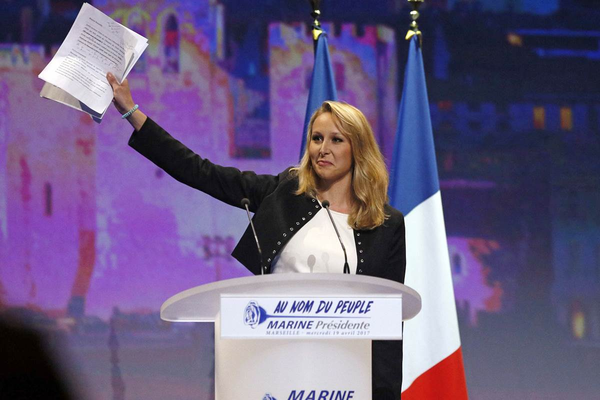 Far-right poster girl quits French politics