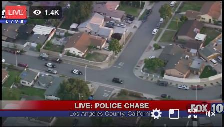 LIVE NOW: Police chase underway in the Los Angeles area  | Scoopnest