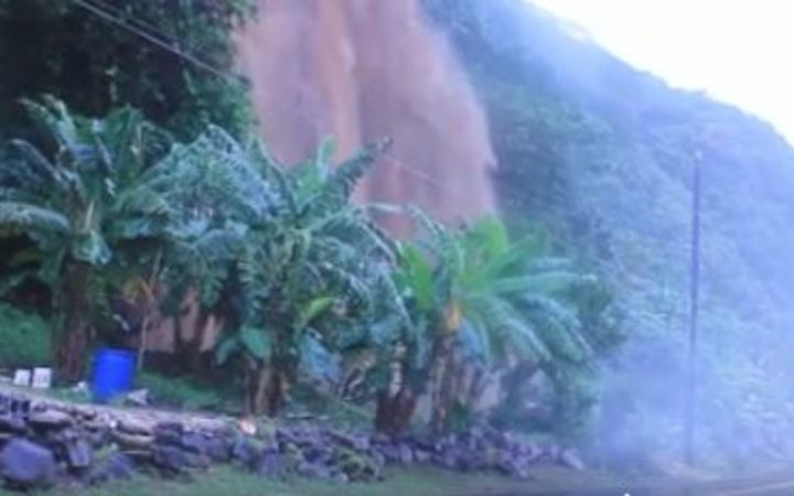 Major flooding in American Samoa due to heavy rain