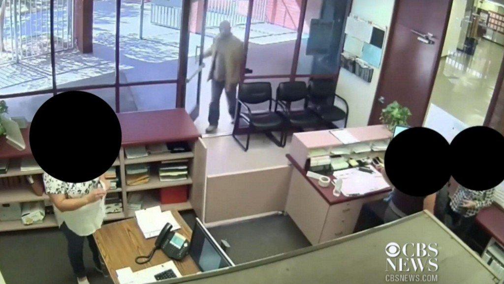 Video shows San Bernardino shooter calmly entering school, signing log book