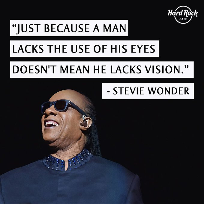 An inspiration, a musical guru and the greatest songwriter of all time. Happy Birthday Stevie Wonder!