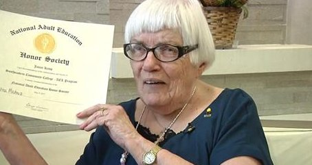 An Iowa woman has finished high school at 88