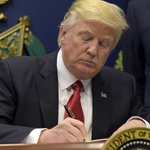 US President Donald Trump signs executive order oncybersecurity