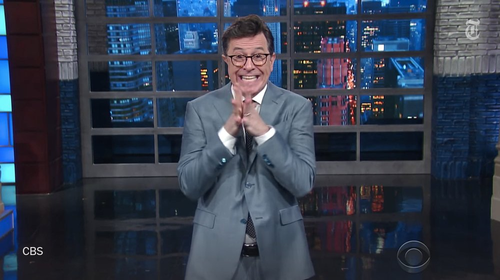 Stephen Colbert is not offended by President Trump's complaints against him https://t.co/WcN4vdQ159 https://t.co/DkdnSb0FZ1