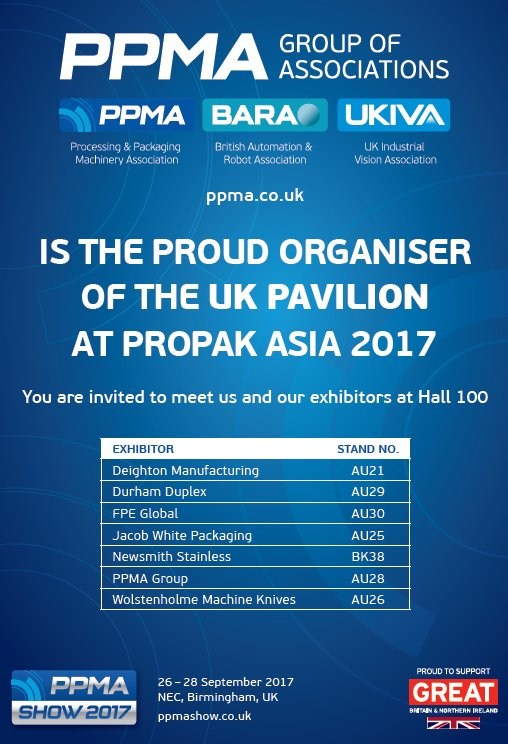 test Twitter Media - Build links with the UK at ProPak Asia 2017 by visiting the pavilion organised by @PPMA_Group  #processing #packaging #asean https://t.co/rnZBuevciu