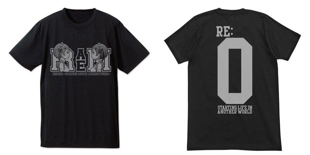 『Re:ゼロから始める異世界生活』レム&ラム ドライTシャツ  #rezero #リゼロ