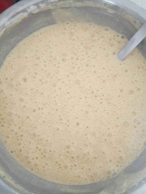 Gaufres time 😋😋😋 #labouffeetmoi pâte bien aérée et bien levée pour des gaufres légères et divinement