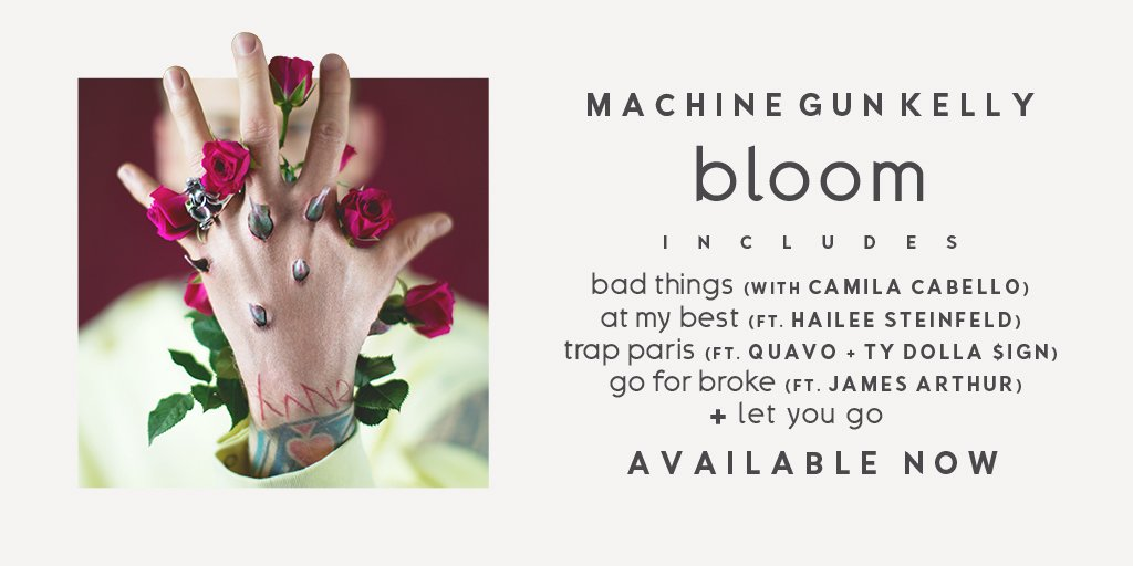 .@MachineGunKelly's groundbreaking new album #bloom is now available https://t.co/lVDyFIj0xp https://t.co/waHB4G5qFg
