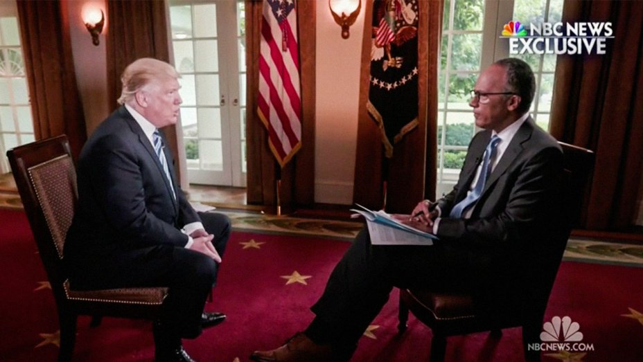 ICYMI watch Trump's full, extended interview with NBC's Lester Holt