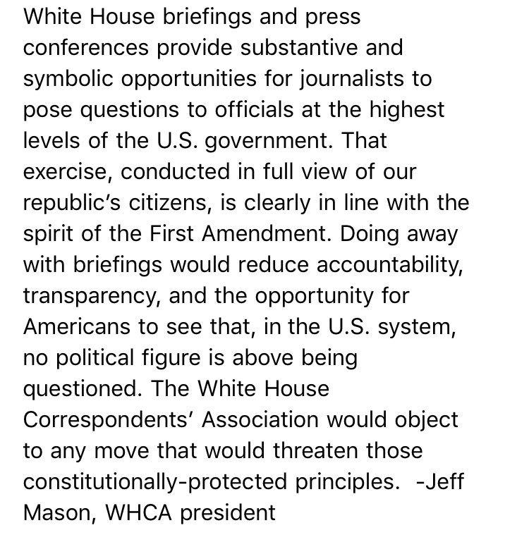 NEW: @whca president @jeffmason1 on POTUS tweet https://t.co/GQXnfO2FQv
