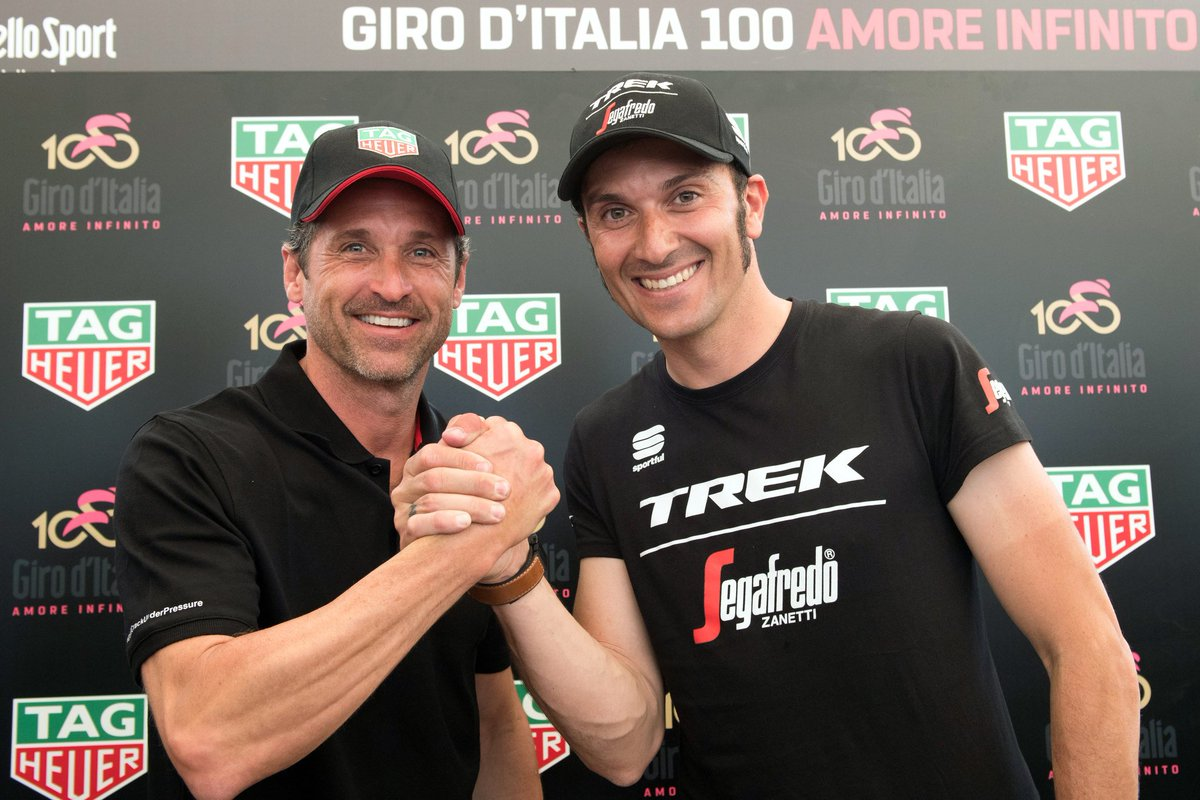 RT @giroditalia: .@ivanbasso e @PatrickDempsey al #Giro100 https://t.co/TN7FFdeg4L