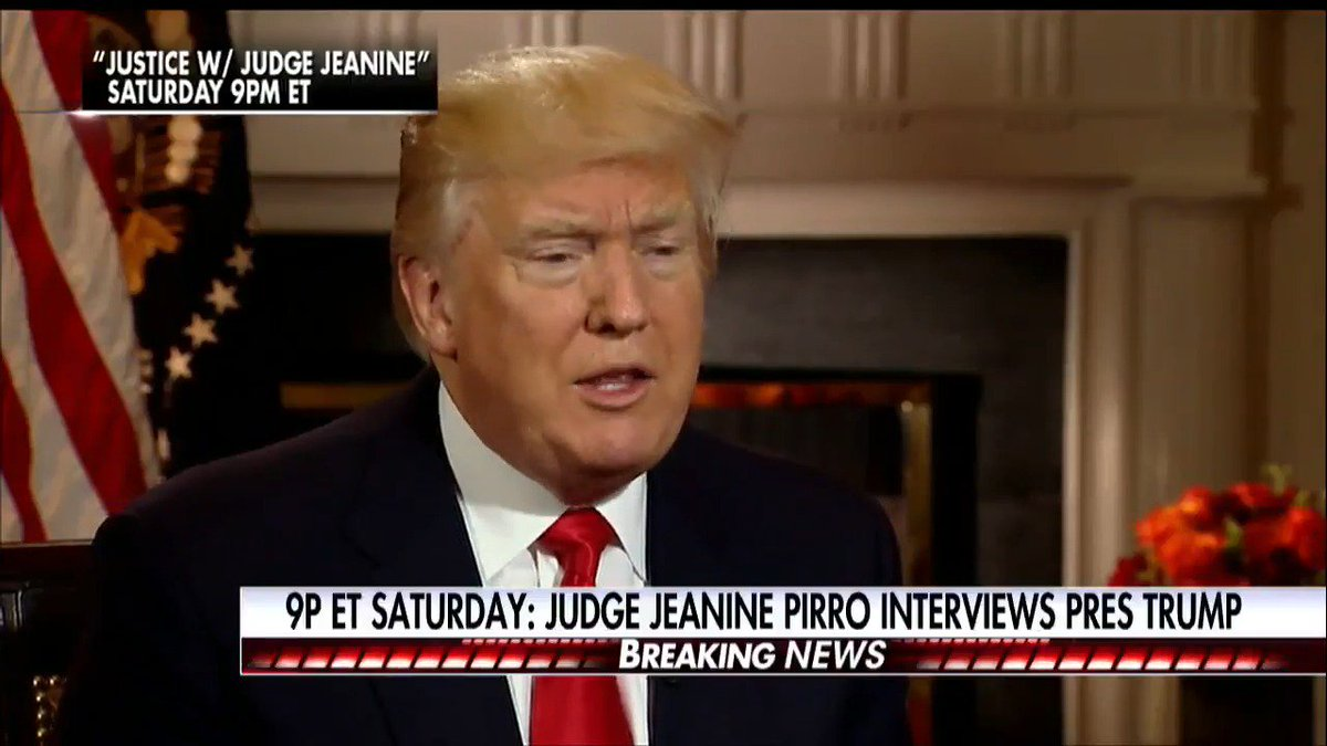 SATURDAY: @JudgeJeanine goes one-on-one with @POTUS - Tune in at 9p ET on Fox News Channel!