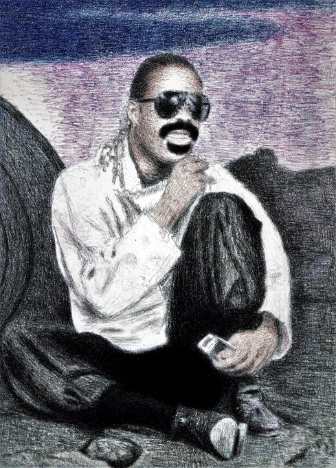 Happy Birthday to you Mr. Stevie Wonder. God Bless!!!!! I love you and your music. You\ll be 67. Great Drawing!!!!!!