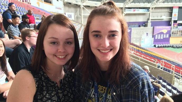 Two Iowa students graduating from college before high school
