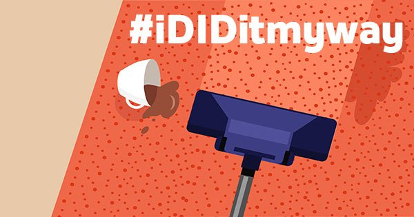 If you're vacuuming coins/lego in those hard to reach places, put a cloth over the end of the vacuum! #iDIDitmyway https://t.co/xw47quOVGq