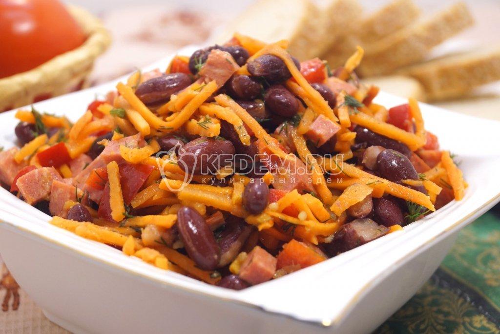 Салат с морковью по-корейски с фасолью рецепт с