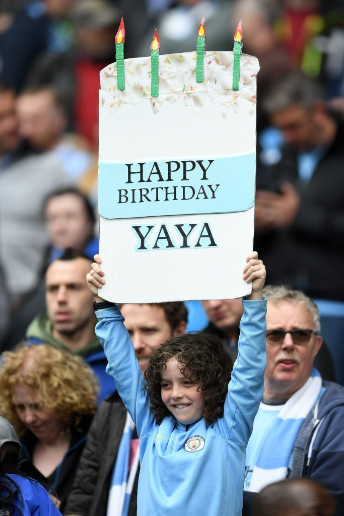 One Manchester City Fan Remembered To Bring A Cake For Yaya Toures