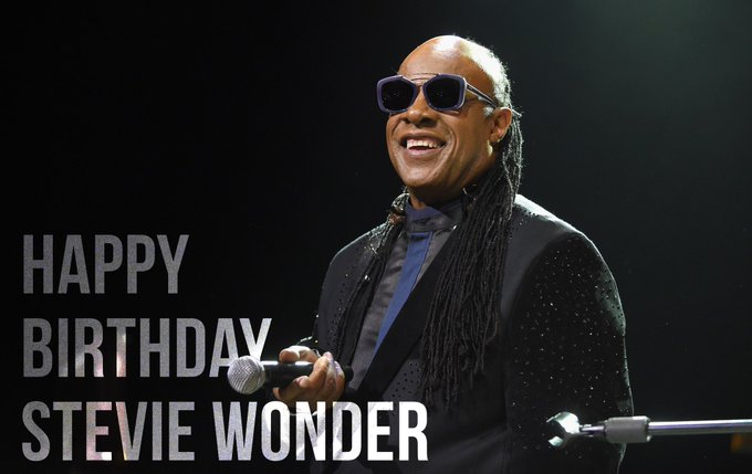 Happy birthday  Universal Icon Stevie Wonder! 67 years younger.....wow!!!!!