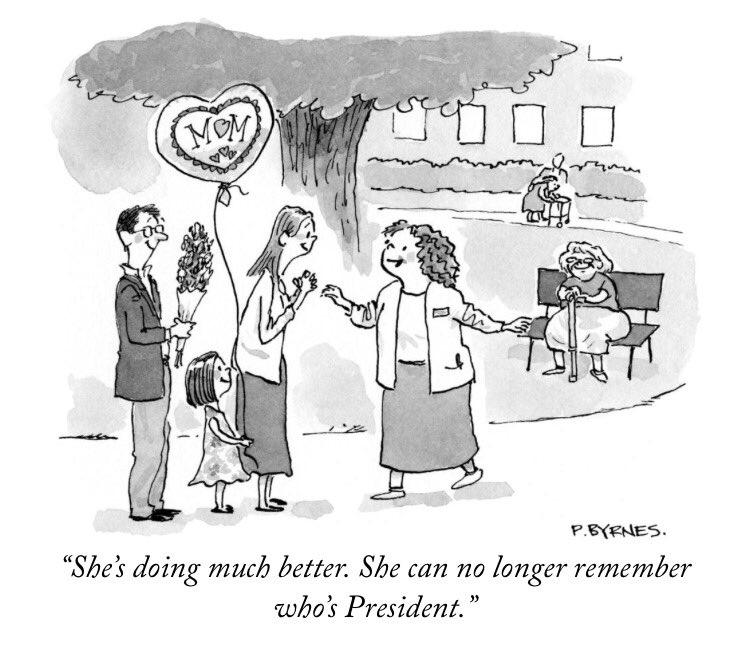 satire new yorker daily cartoon trump