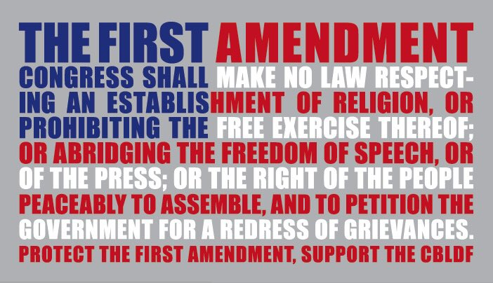 the first amendment in todays usa